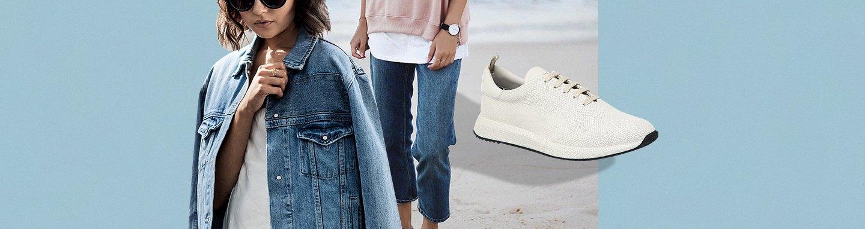 cda59dcf Базовый гардероб обуви. С чем носить белые кроссовки