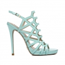 Женские Босоножки Gianni renzi couture GD1300 зелено-голубой