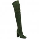 Женские Ботфорты Casadei 1T846E100 темно-зеленый