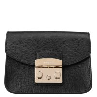FURLA METROPOLIS MINI CROSSBODY черный