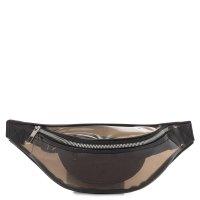 CALZETTI TRANSPARENT BELT BAG NEW темно-коричневый