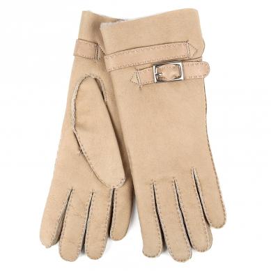 Перчатки AGNELLE 14/253/DBL/ND бежево-серый