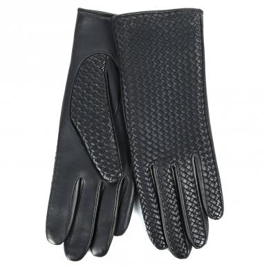 Перчатки AGNELLE CHLOE/BRAIDPAT/W темно-синий