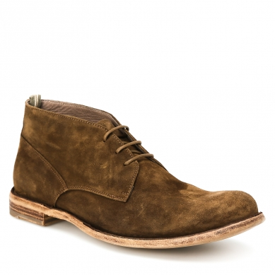 Ботинки OFFICINE CREATIVE IDEAL/043 зелено-коричневый