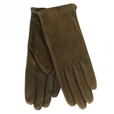 Перчатки AGNELLE HELENE/S зелено-коричневый