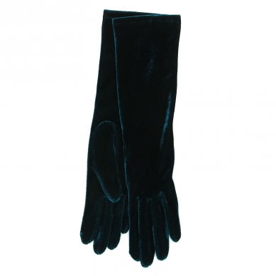 Перчатки AGNELLE CELIAVELVET темно-зеленый
