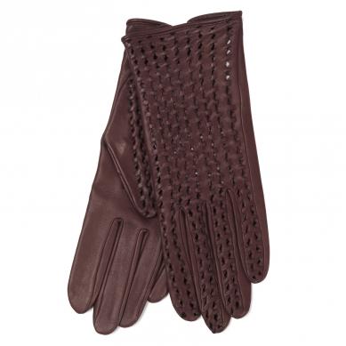 Перчатки AGNELLE PERFO TRESSE бордовый