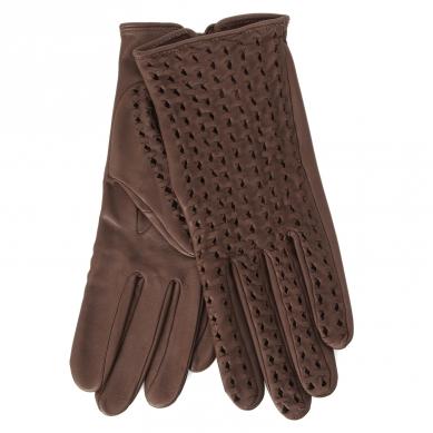 Перчатки AGNELLE PERFO TRESSE темно-коричневый