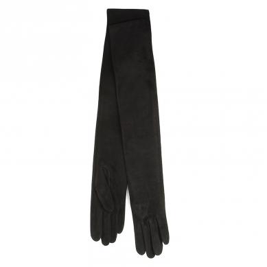 Перчатки AGNELLE GLAMOUR/SUEDE черный