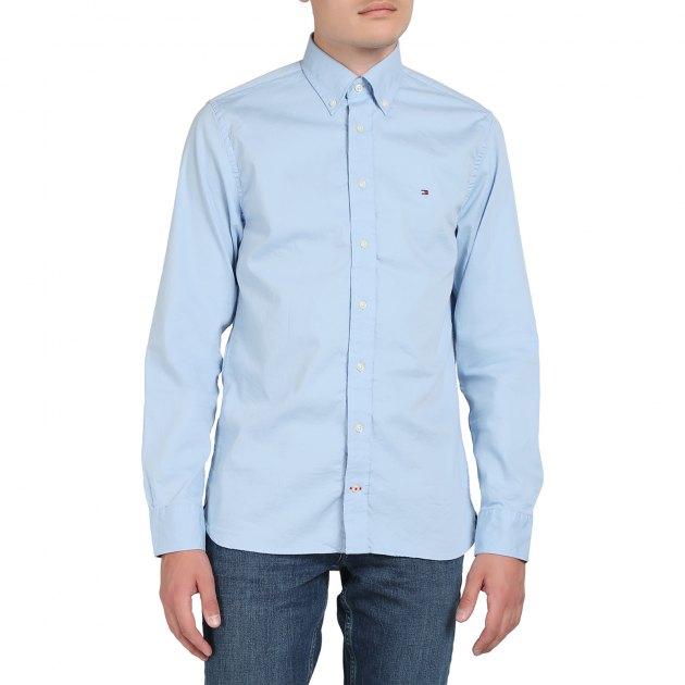 6f00cf27a483 Рубашка TOMMY HILFIGER STRETCH TWILL SHIRT MW0MW10948 ГОЛУБОЙ ...