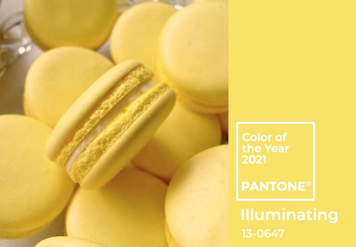 Цвет 2021 года по версии института Pantone 13-0647 Illuminating